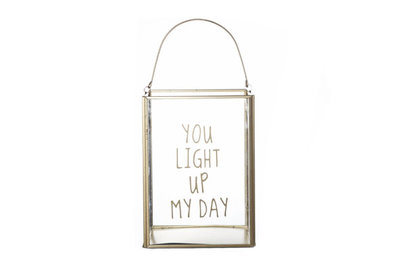 Lantaarn Light up my day (L15xB15xH20 cm)