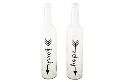 Vazen fles Faith and Hope (D7.5XH32 cm)